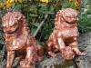 lion chinois fonte restaure