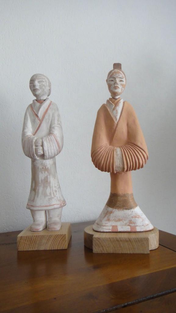 Dynastie Han- couple à la cour