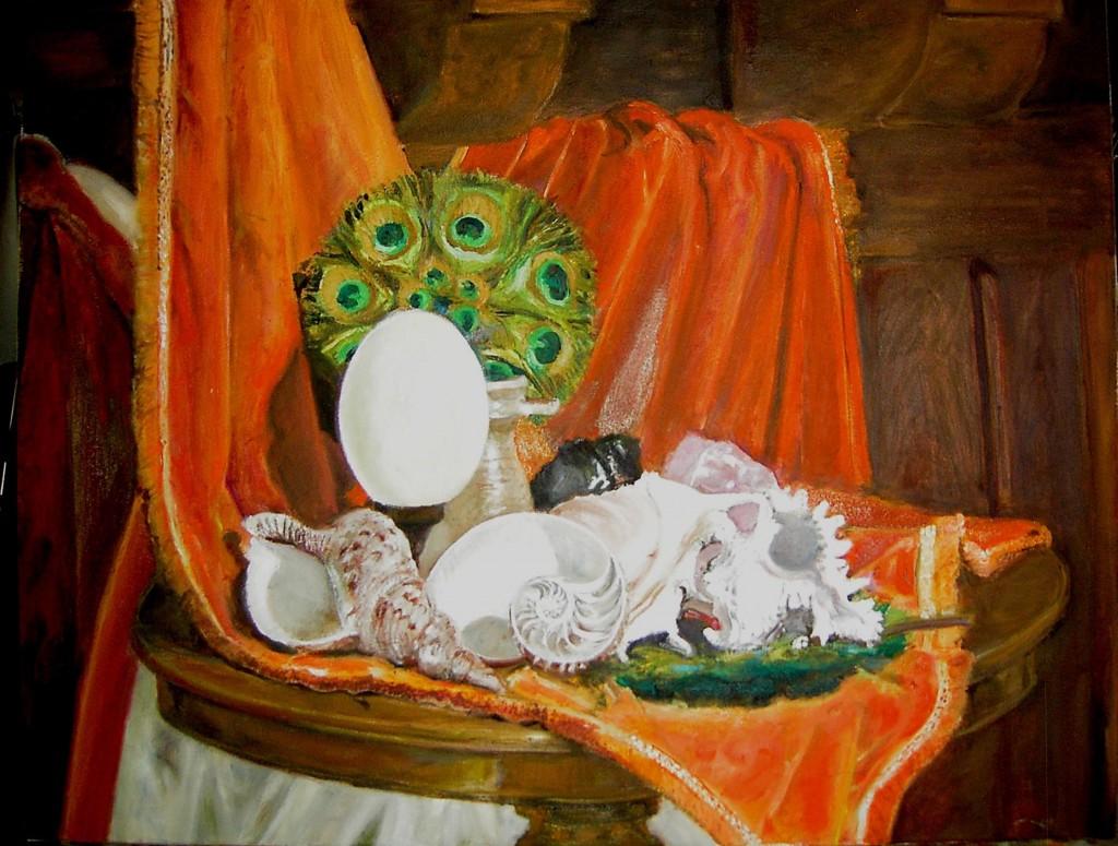 Peinture sur toile d'après modèle