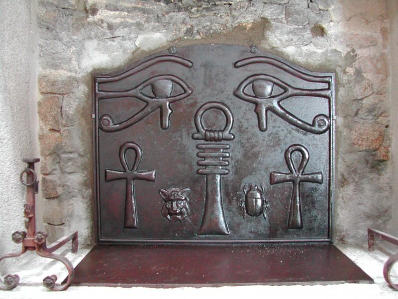 Plaque fonte cheminée